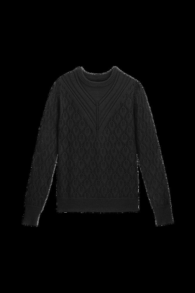 La Redoute Trøje med hulmønster og rund hals