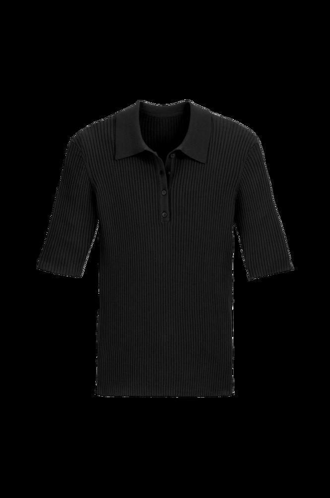 La Redoute Finstrikket, trøje i rib med krave