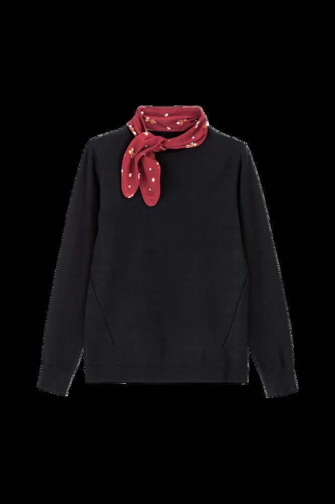 La Redoute Finstrikket trøja med tørklæde