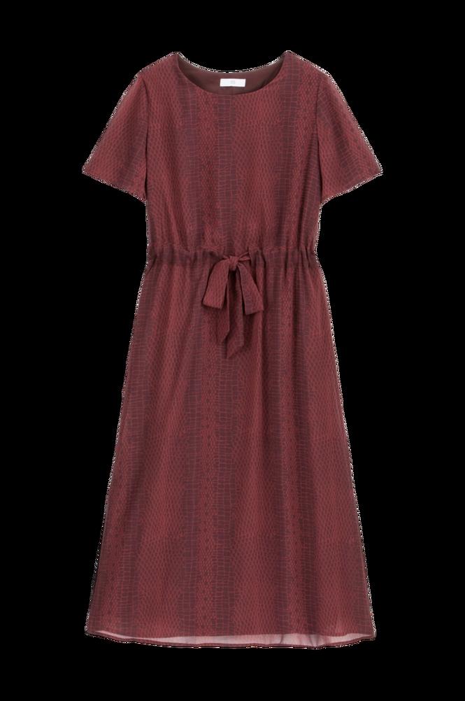 La Redoute Lang, mønstret kjole med løbegang i taljen