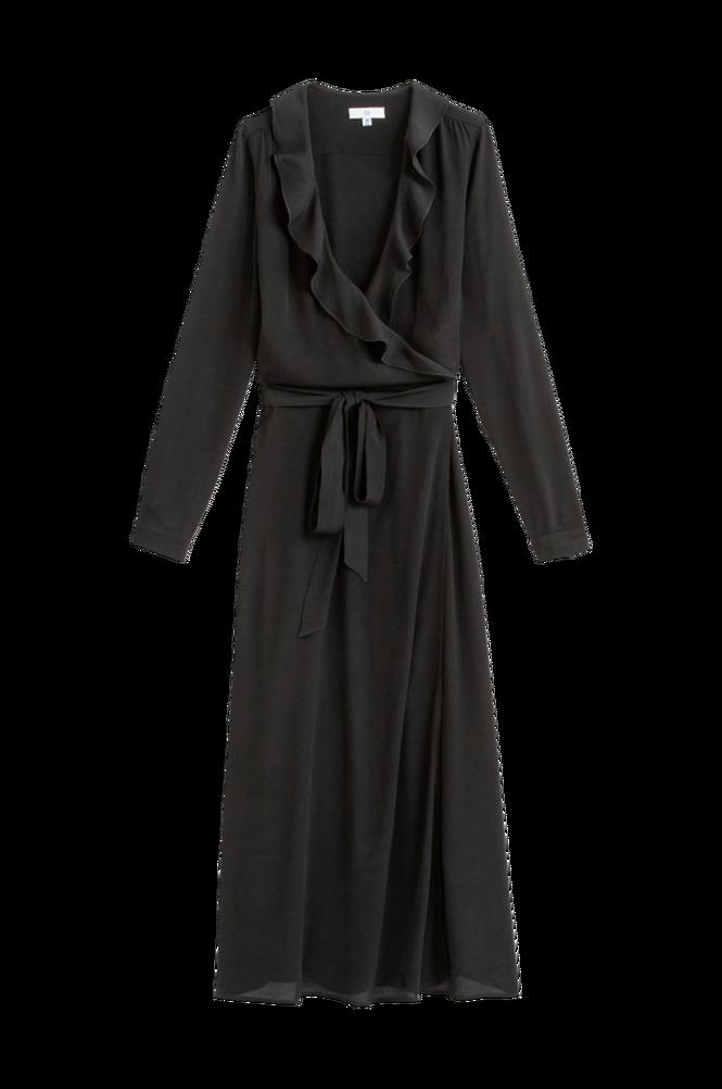 La Redoute Lang slå om-kjole med flæse foroven