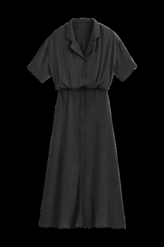 La Redoute Lang skjortekjole med kort ærme