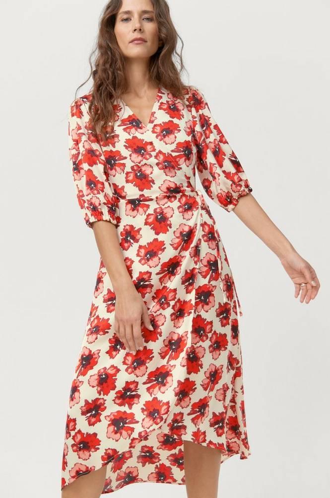 Soaked in Luxury Slå om-kjole slIsabeth Dress