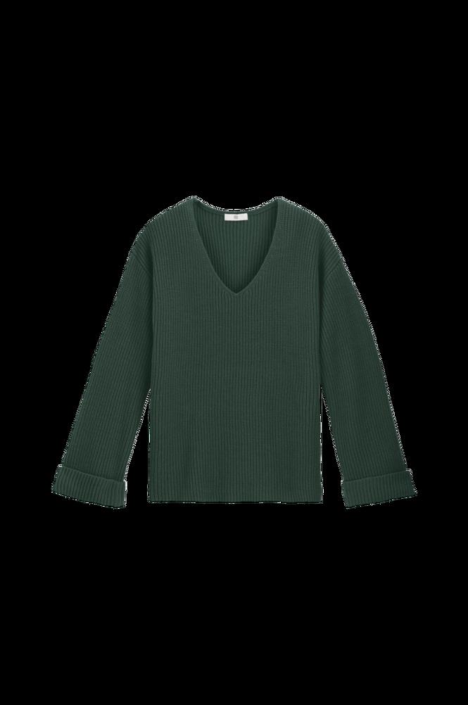 La Redoute Groftstrikket trøje med V-udskæring