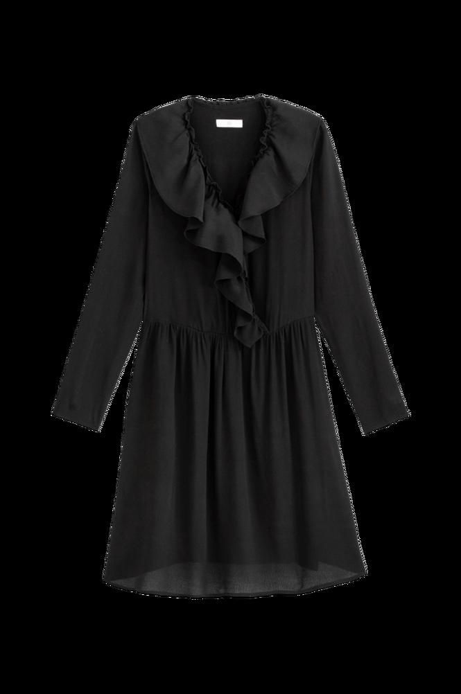 La Redoute Slå om-kjole med langt ærme