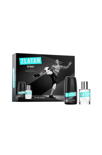 Lahjapakkaus Zlatan Sport set Edt 30 ml + Antiperspirant Deo roll 50 ml