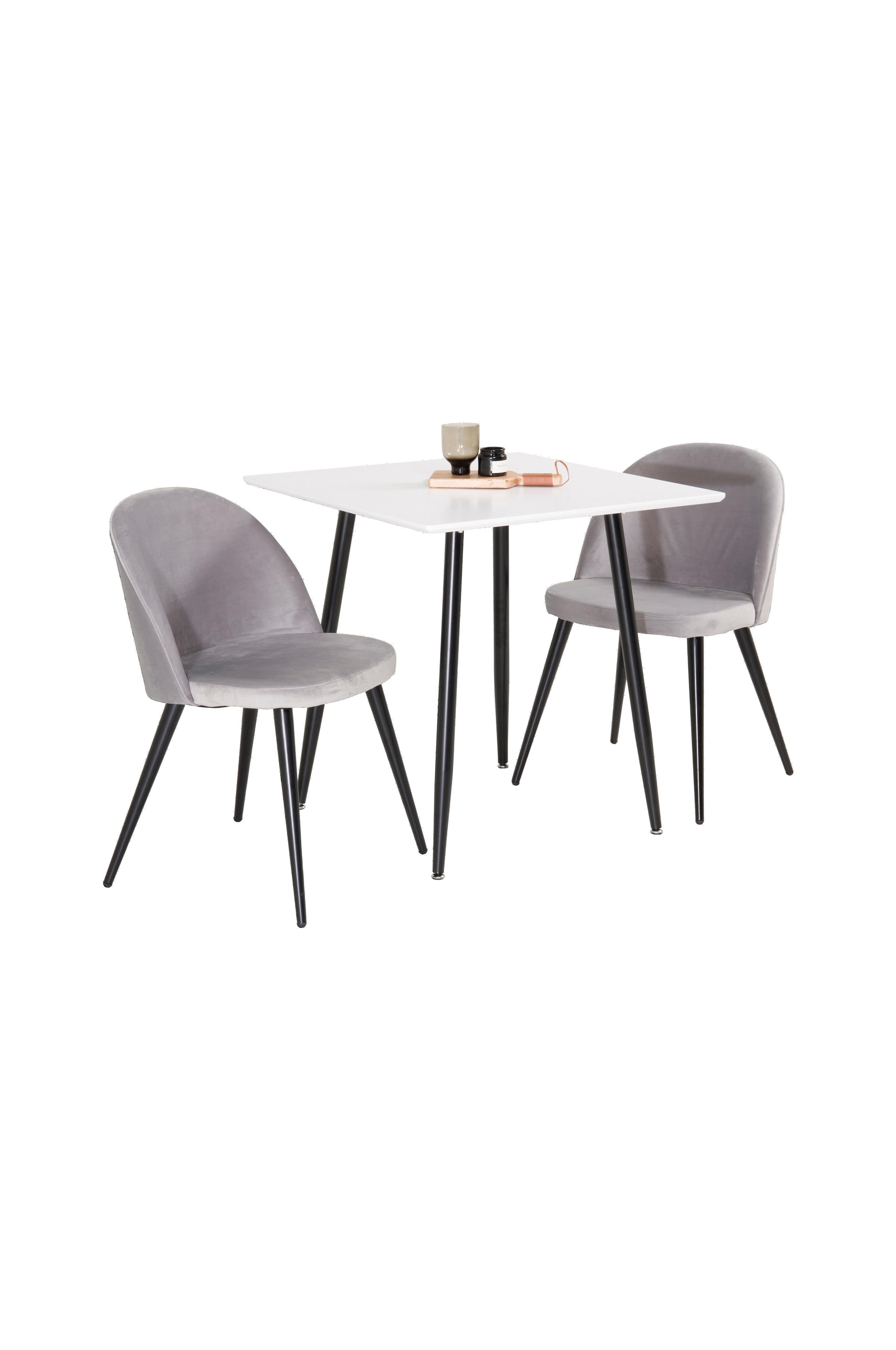 NORDFORM Spisegruppe Penally bord og 2 stk Valleta stoler