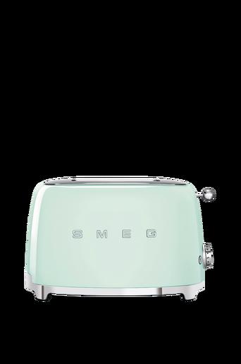Leivänpaahdin, jossa 50-luvun tyyli, kaksi viipaletta, pastellinvihreä tsf01pgeu
