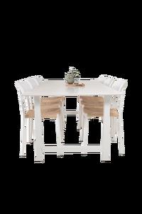 NORDFORM Matgrupp Doris bord och 6st Valleta stolar Svart