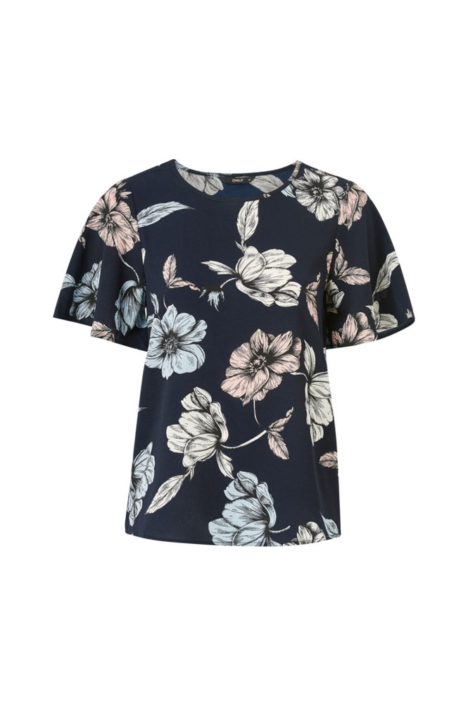 Only Bluse onlNova Lux Aop New S/S Top