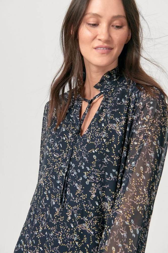 Saint Tropez Kjole Woven Dress L/S
