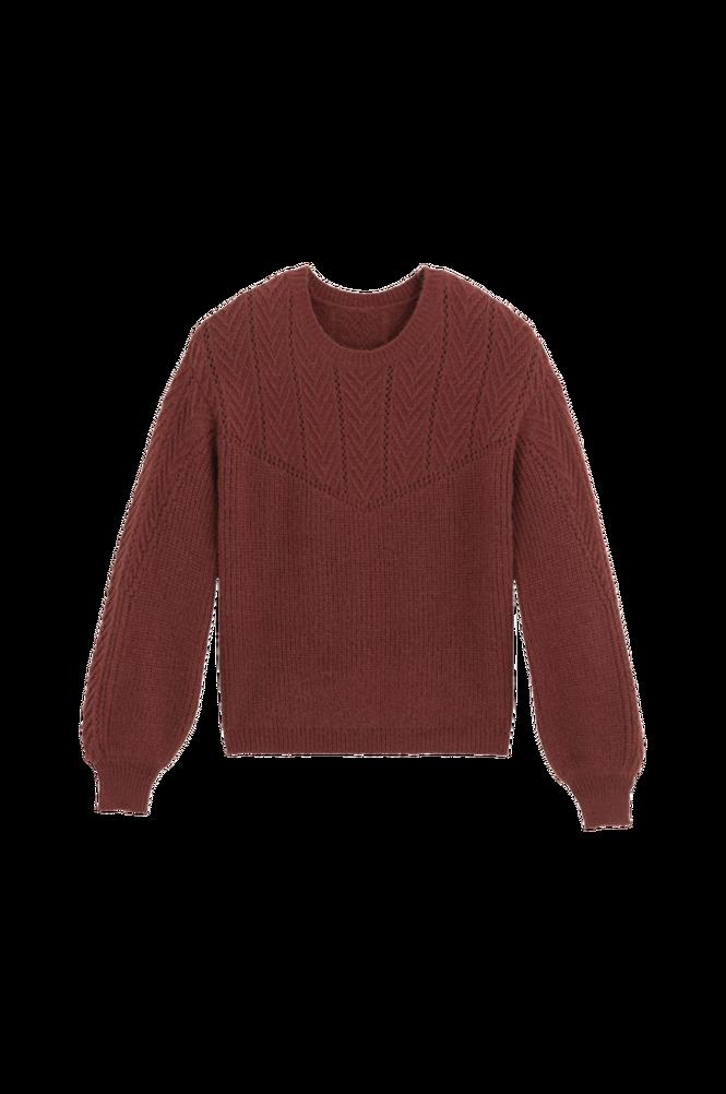 La Redoute Mønsterstrikket trøje med rund halsudskæring og pufærme