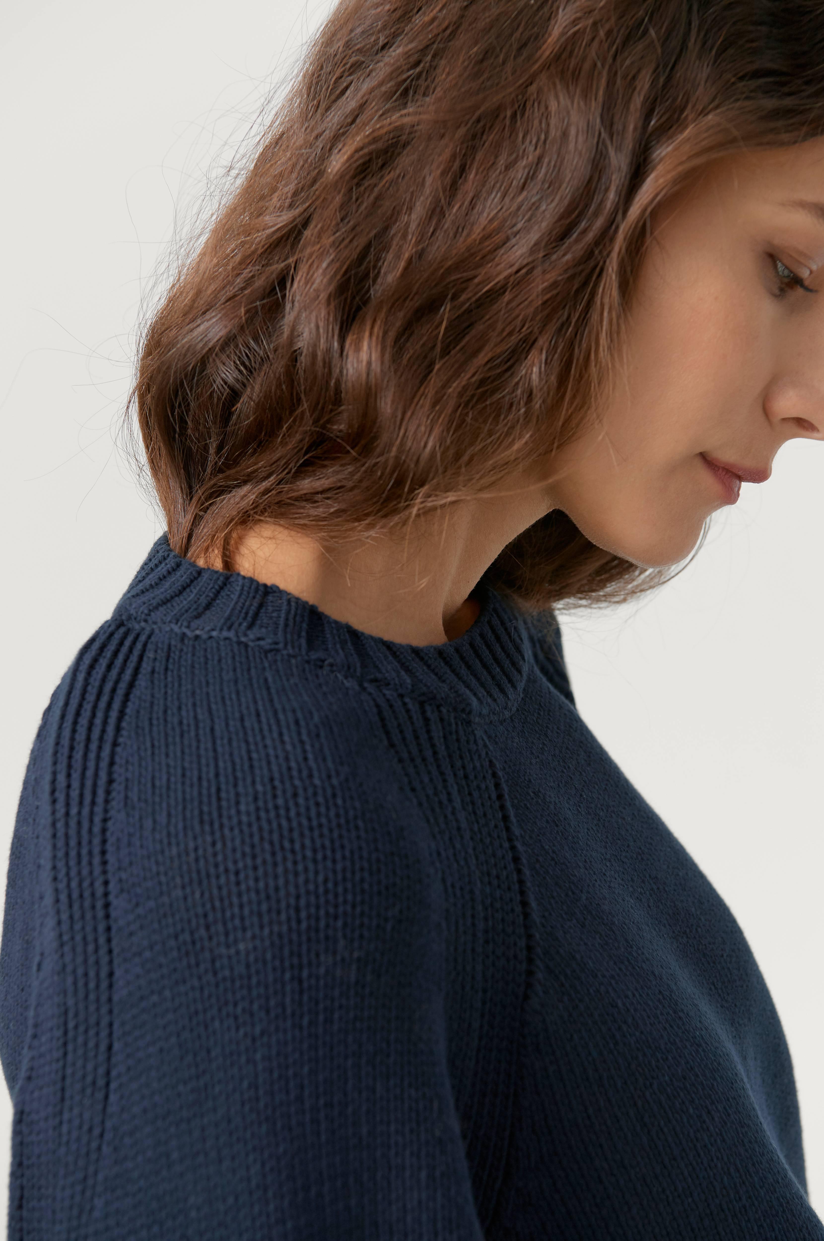 Dagmar Genser Emily Round Neck Sweater Blå Strikkede