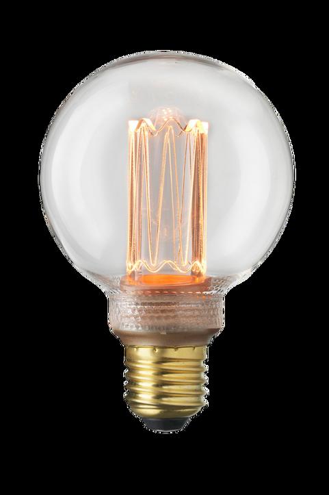 Ljuskälla E27 Laser LED Filament Glob 80 mm Klar 3,5W