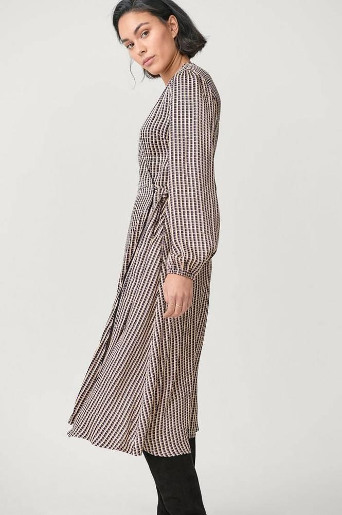 Second Female Slå om-kjole Ed LS Wrap Dress