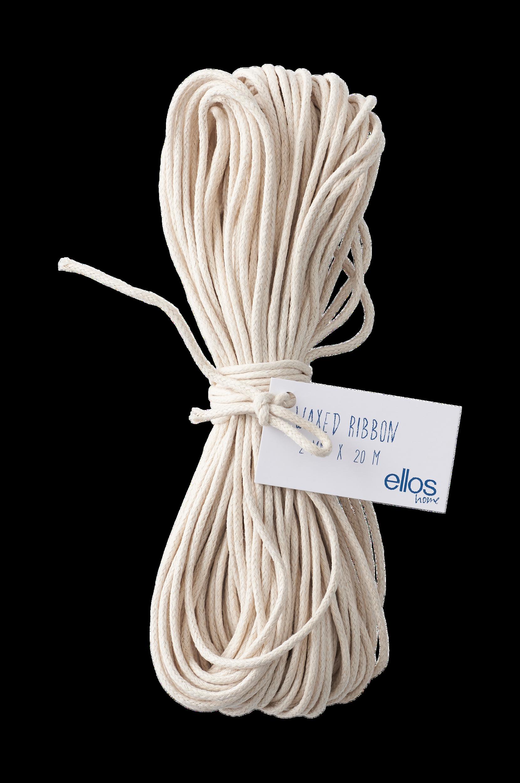 Ellos - Presentsnöre Cotton Waxed 20 meter - Natur