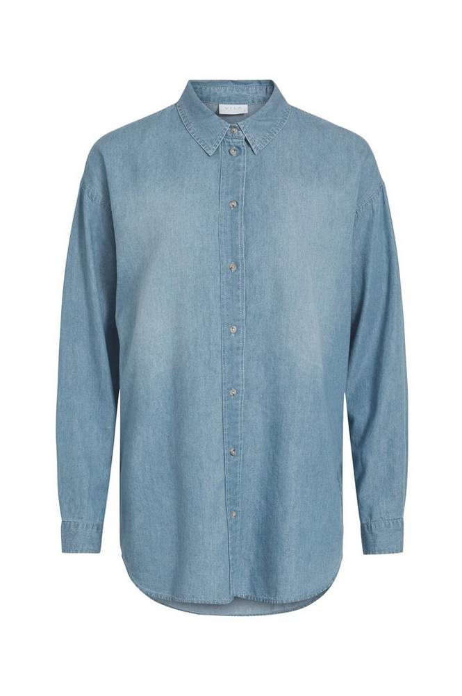 Vila Denimskjorte viFlash L/S Shirt