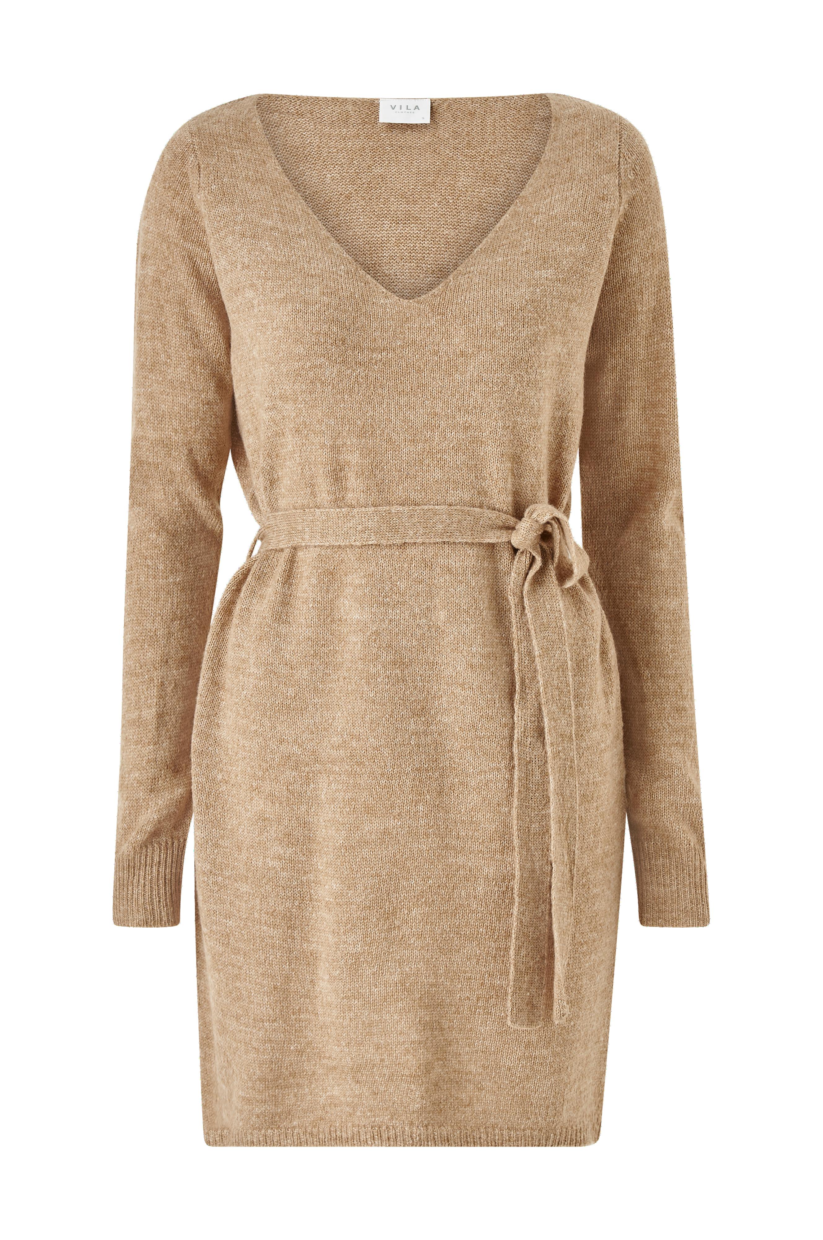 Kjole viSuril LS V neck Short Knit Dress