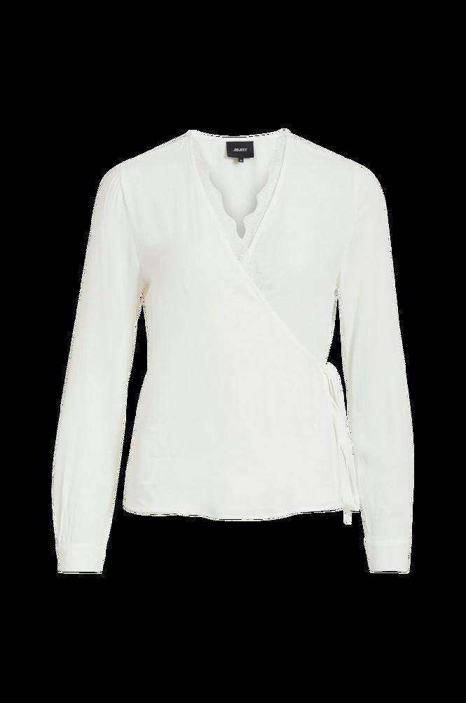 Object Slå-om-bluse objLauren L/S Wrap Top
