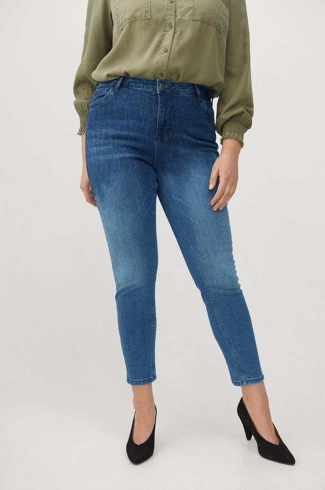 Zizzi Jeans Nille Cropped Ex Slim