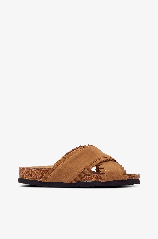 Duffy - Sandaler med volangkanter - Natur