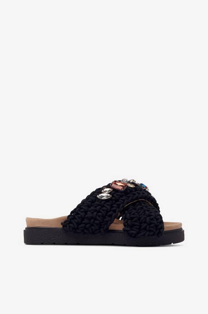 INUIKII Sandal, groft hæklet med similisten
