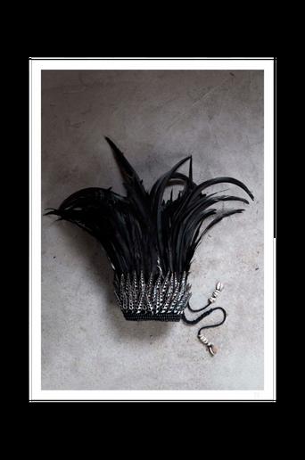 Juliste Black feather crown poster 50x70