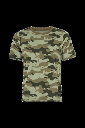 T-paita, jossa painettu maastokuvio