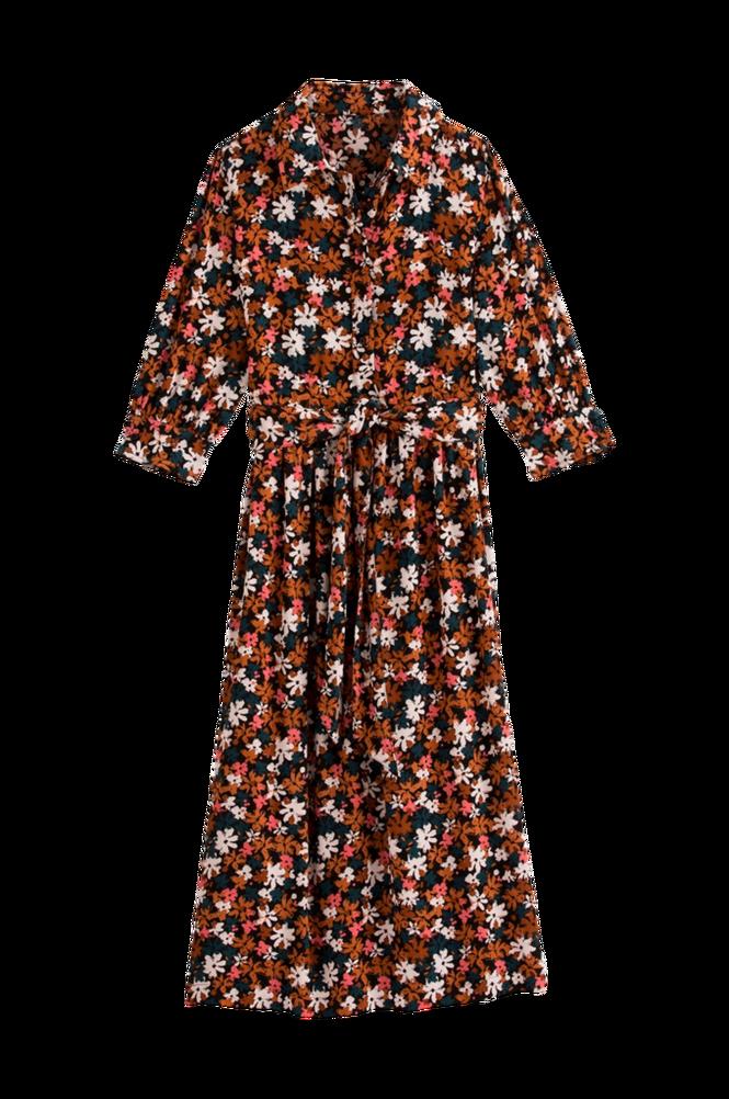 La Redoute Skjortekjole i midilængde med 3/4-langt ærme