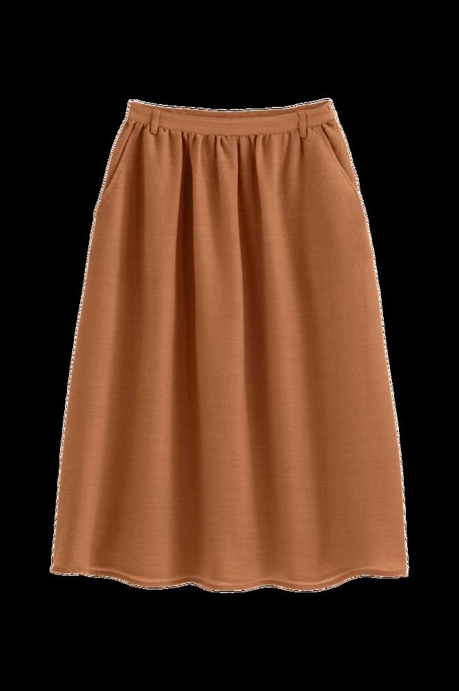 La Redoute Lang nederdel i løst vævet uldmateriale