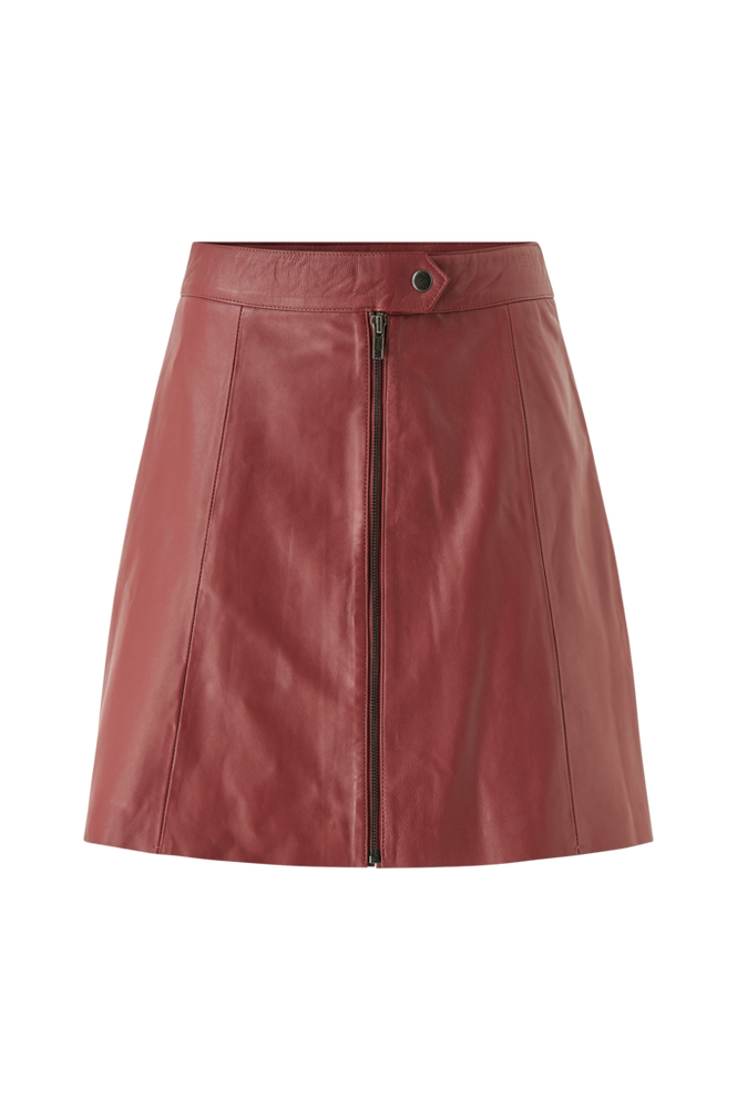 Y.A.S Skindnederdel yasSanvi HW Leather Skirt