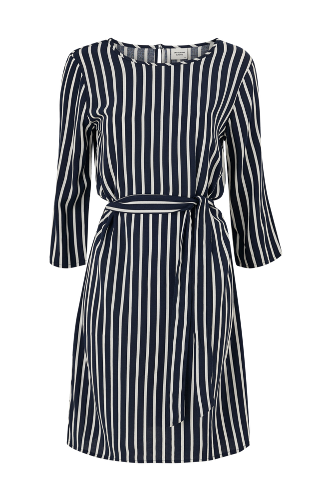 Jacqueline de Yong Kjole jdyLeaf Treats 3/4 Belt Dress
