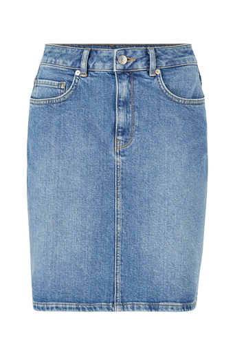 Farkkuhame slfKenna MW Mid Blue Denim Skirt W