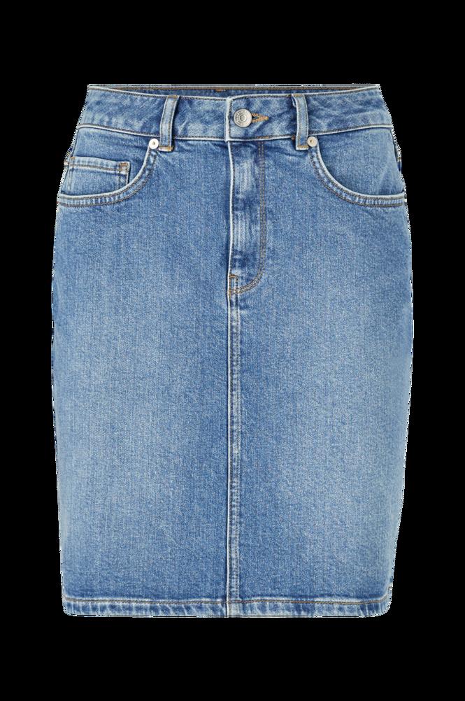 Selected Femme Denimnederdel slfKenna MW Mid Blue Denim Skirt W