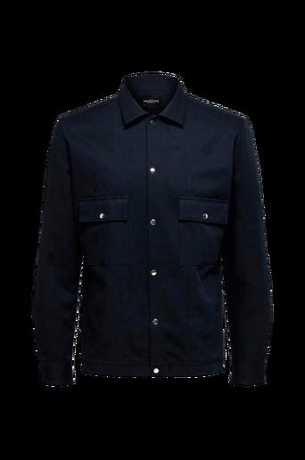 Kauluspaita slhLoosebenji Shirt Jacket LS