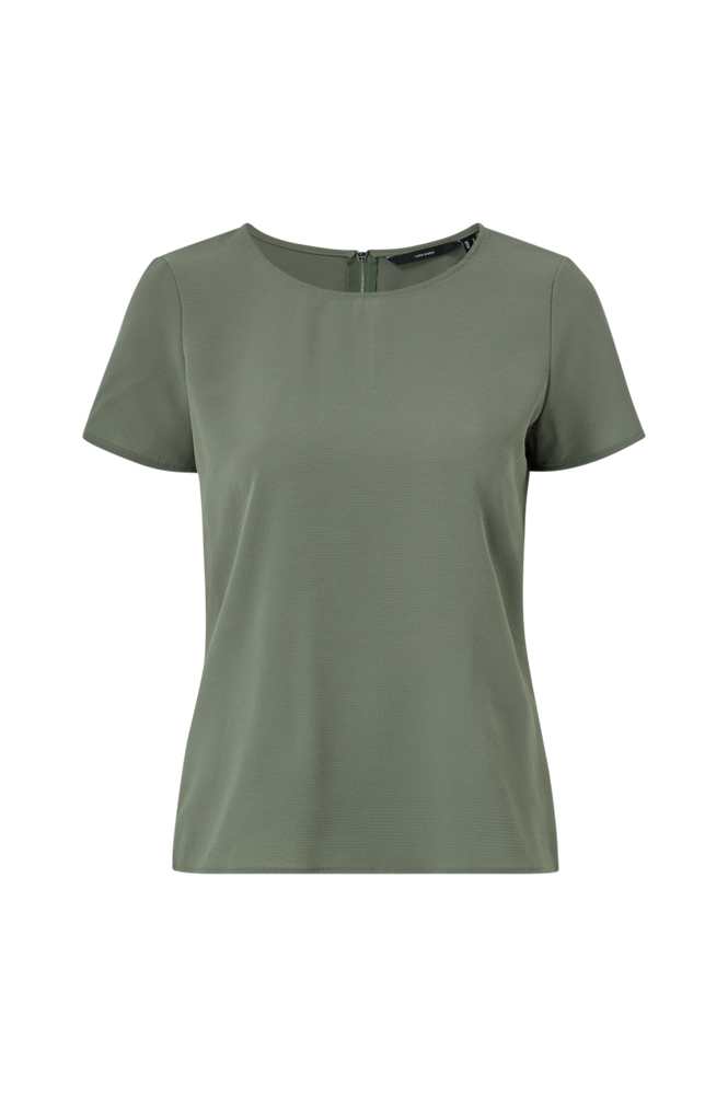 Vero Moda Bluse vmSasha SS Zip Top Color