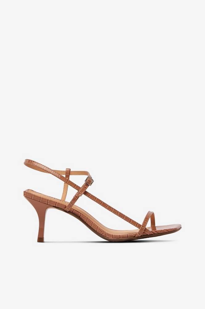 Shoe Biz Sandaler Ninis Croco Patent