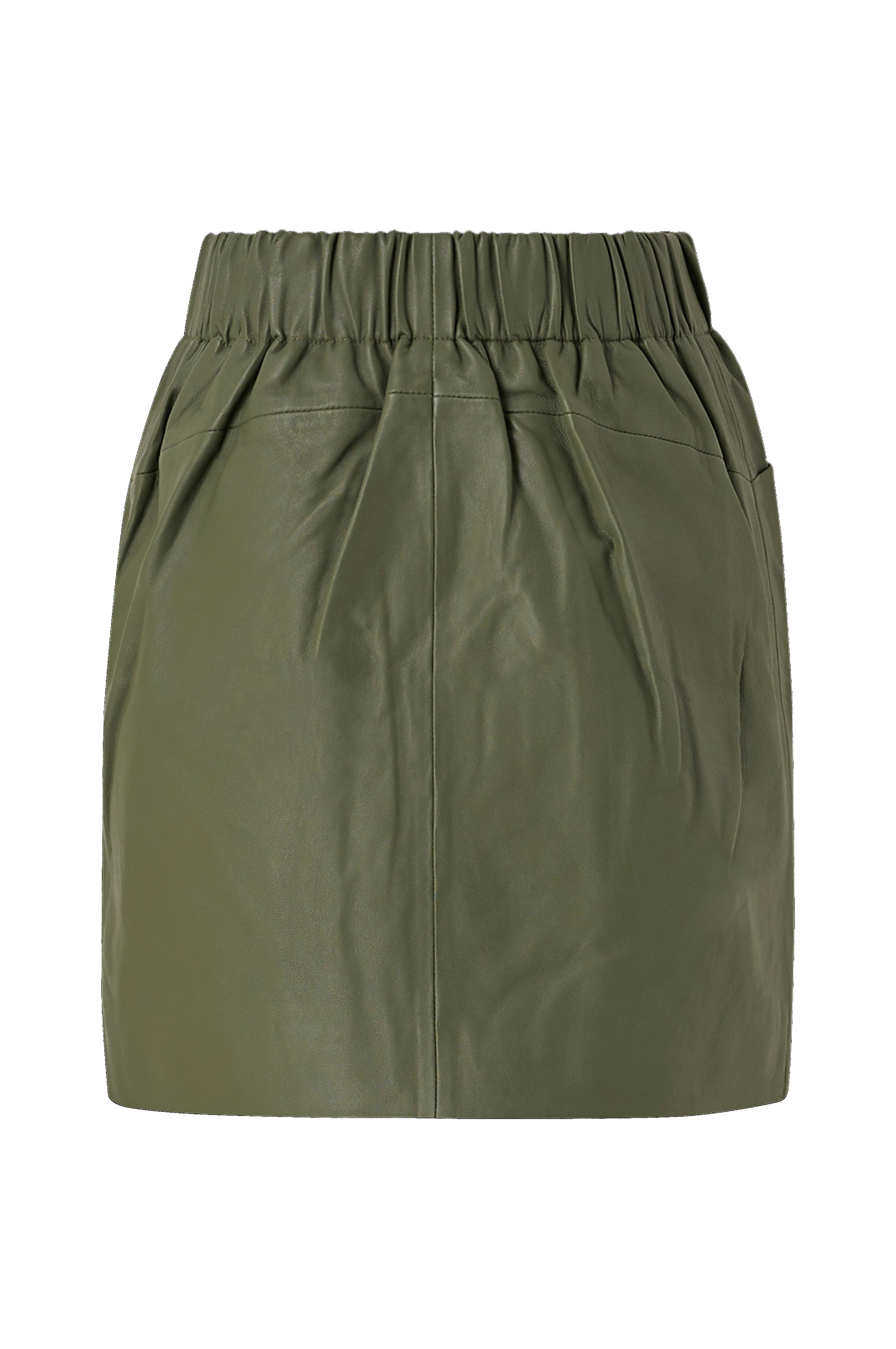 Skindnederdel yasRobin HW Leather Skirt