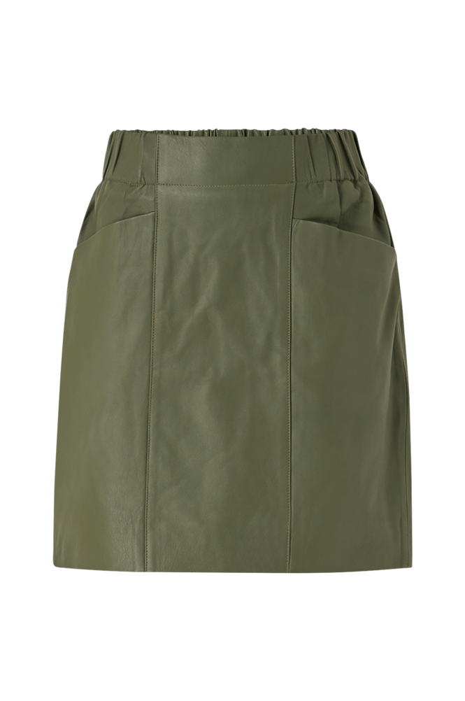 Y.A.S Skindnederdel yasRobin HW Leather Skirt