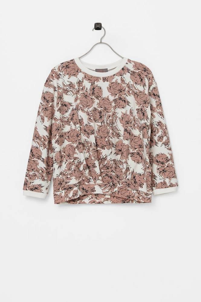 Creamie Sweatshirt Big Flowers
