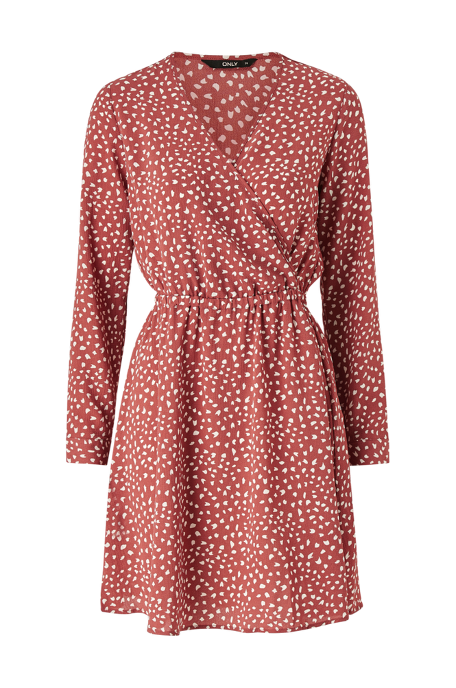Only Kjole onlNova Lux L/S Wrap Dress