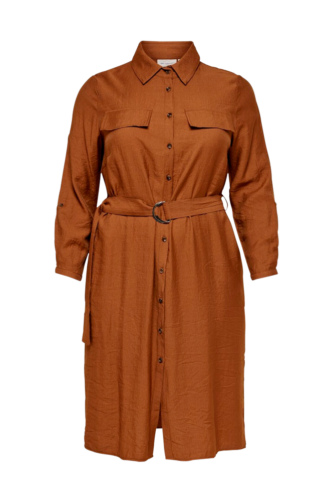 Only Carmakoma Skjortekjole carWanda LS Calf Shirt Dress
