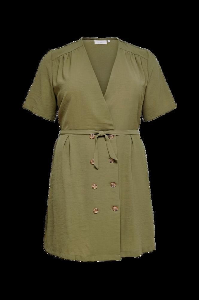 Only Carmakoma Slå om-kjole carRani SS Knee Dress