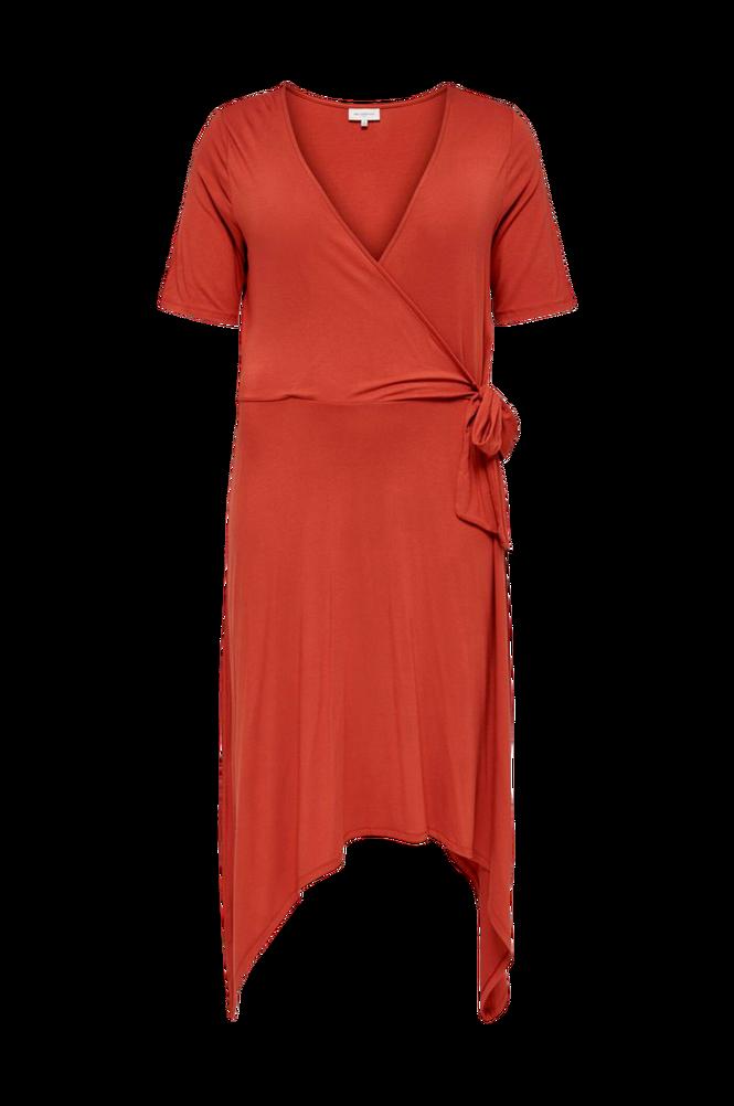 Only Carmakoma Kjole carDry Life 2/4 Wrap Blk Dress