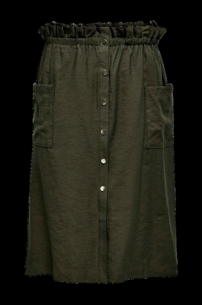 Only Carmakoma Nederdel carJanine Button Calf Skirt
