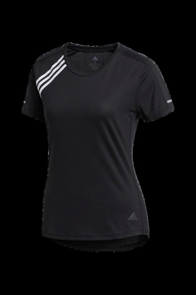 adidas Sport Performance Løbetop 3-stripes Run Tee