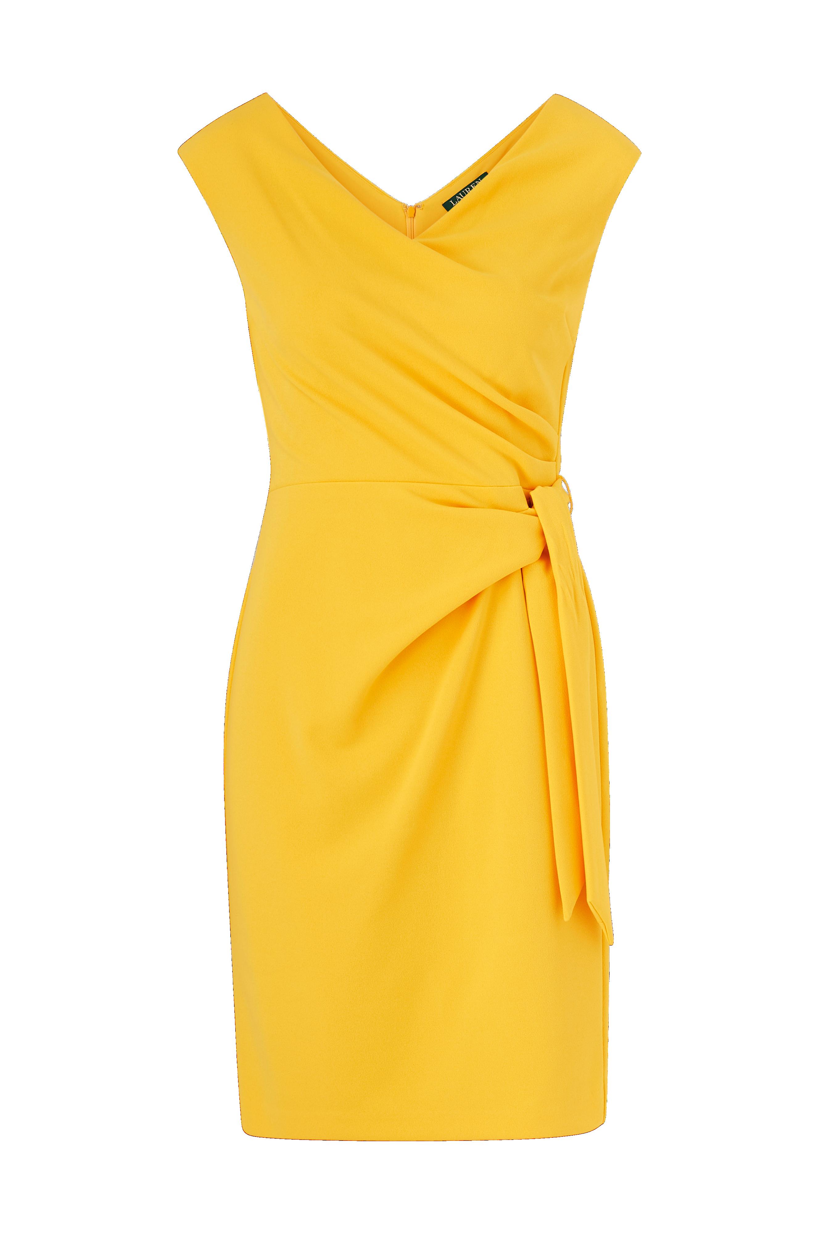 Lauren Ralph Lauren Mekko Cleonie Cap Sleeve Coctail Dress