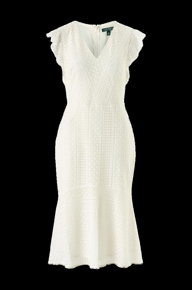 Lauren Ralph Lauren Blondekjole Celia Cap Sleeve Day Dress