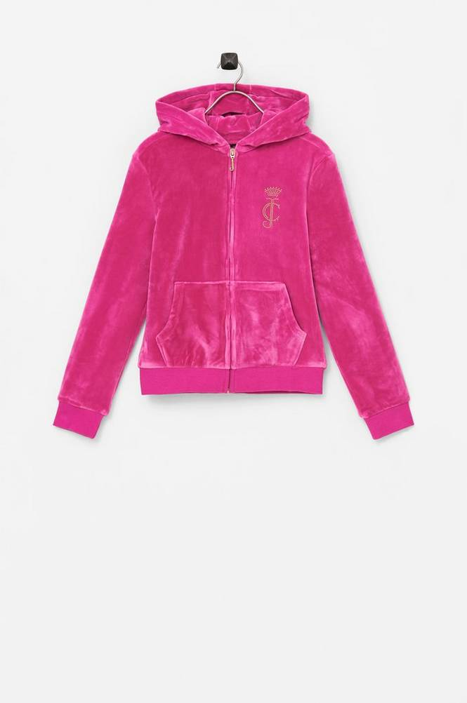 Juicy Couture Hættetrøje Velour Zip Through