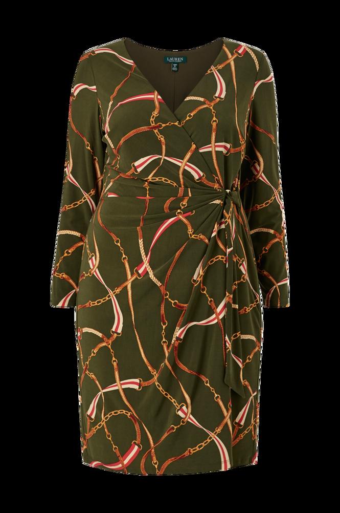 Lauren Ralph Lauren Curve Slå om-kjole Casondra Long Sleeve Day Dress